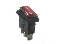 Кнопка KCD-3 с подсв, 3 конт 2 полож герметичная 16A