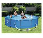 Садовый бассейн с насосом Bestway Steel Pro MAX 305 х 76 см , фото 3