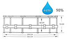 Садовый бассейн с насосом Bestway Steel Pro MAX 305 х 76 см , фото 4