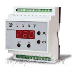 Новатек РНПП-302 реле напряжения, послед., перекоса и обрыва фаз, контроль МП, индикация