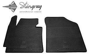 Kia Cerato 2013- Комплект из 2-х ковриков Черный в салон