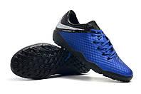 Футбольные сороконожки Nike HyperVenom Phantom III Academy TF Racer Blue/Metallic Silver/Black/Volt, фото 1