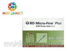 Шприци інсулінові BD Micro-Fine+ U-100 0,5 мл 8 мм - 100шт