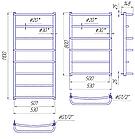 Полотенцесушитель водяной Mario Люкс HP 1100x530/500, фото 2