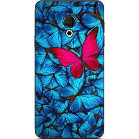Чехол с картинкой силиконовый для Meizu 15 Lite Бабочки