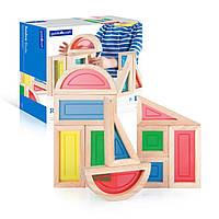 Набор стандартных блоков Block Play Большая радуга 10 шт Guidecraft (G3015)