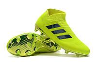 Футбольные бутсы adidas Nemeziz 18+ FG Solar Yellow/Football Blue/Active Red, фото 1