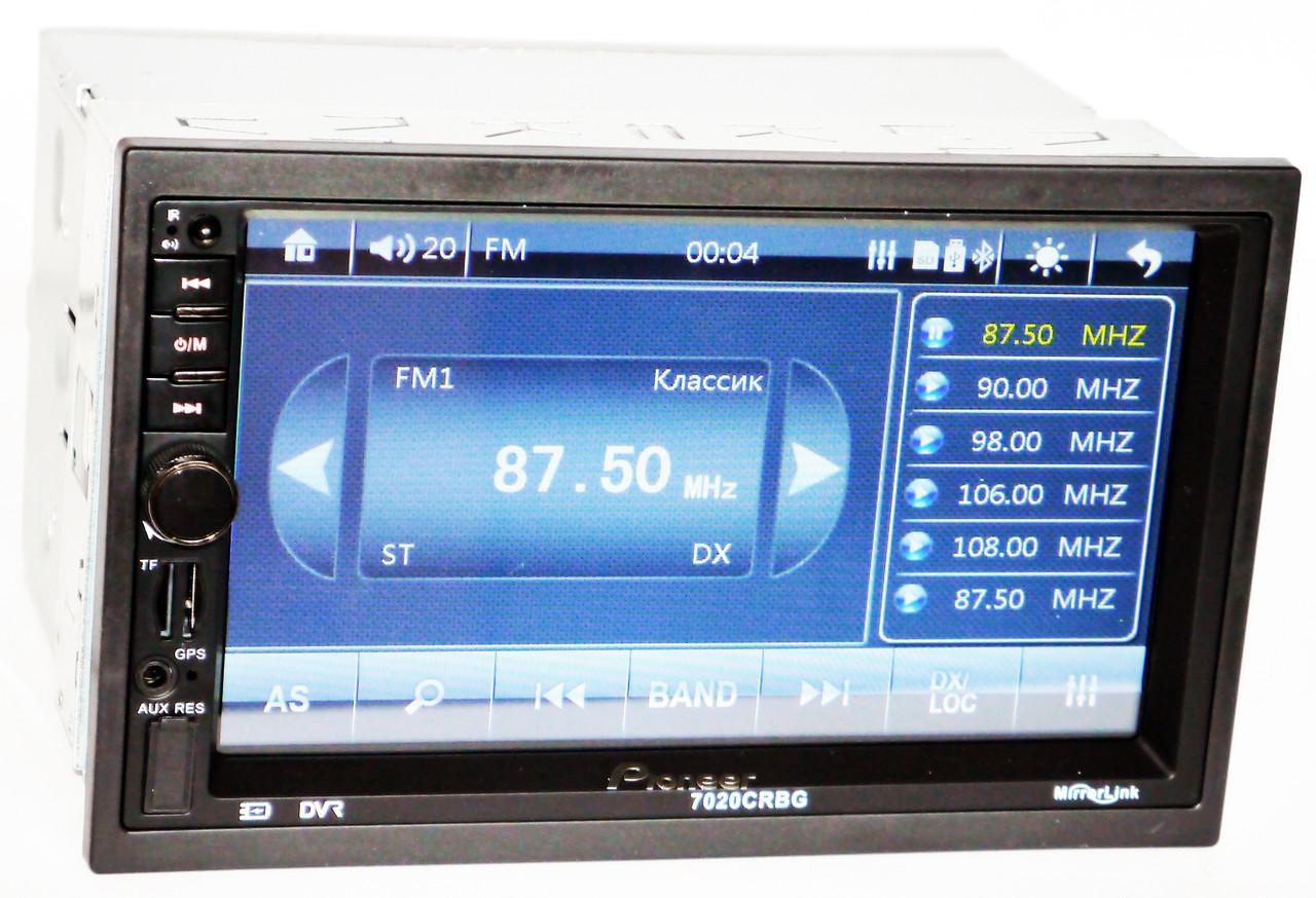 Автомагнитола 2din Pioneer 7020G CRBG + Пульт на Руль - Bluetooth + 8GB (Карта навигацииIGO)
