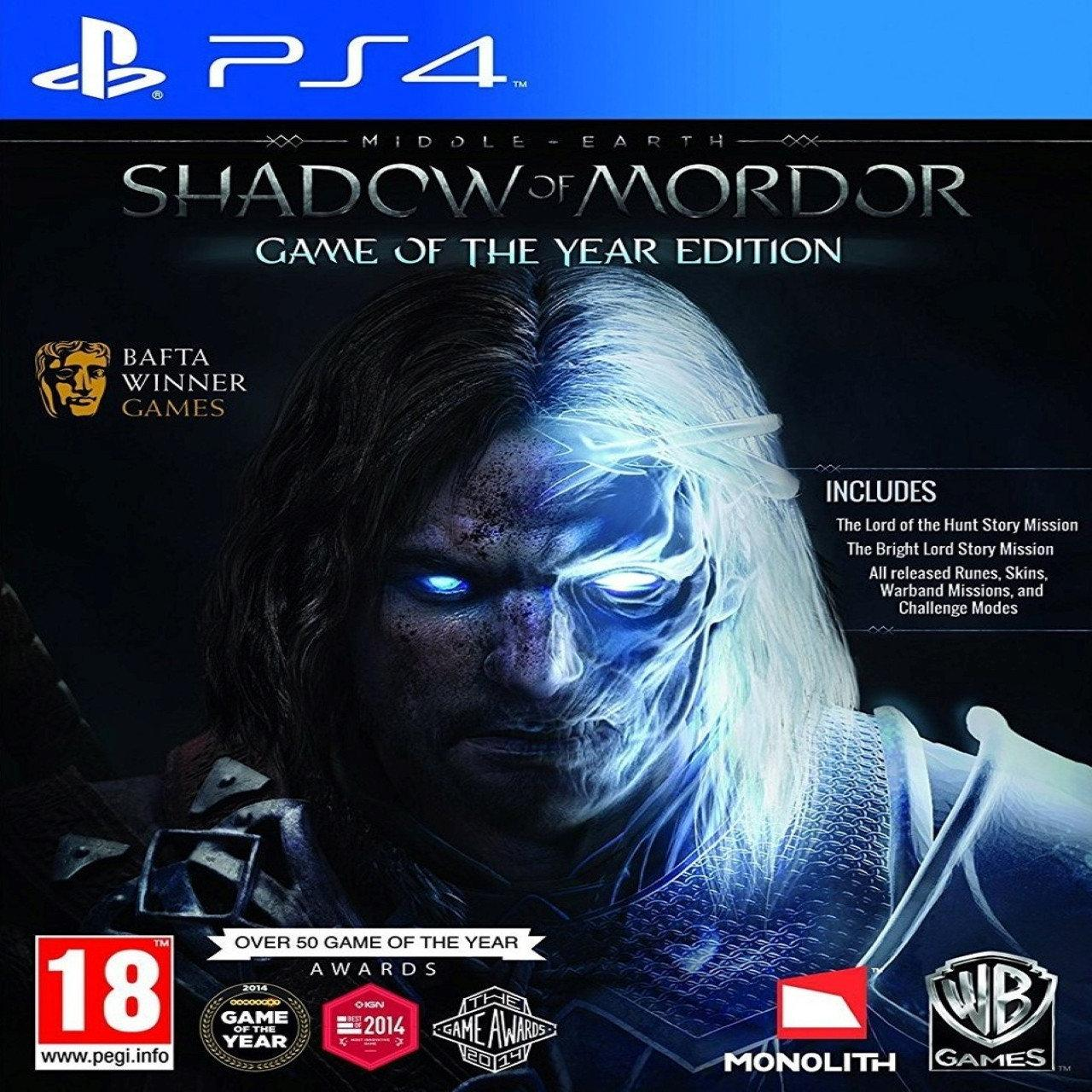 Middle-earth: Shadow of Mordor Game of the Year Edition RUS PS4 (Б\В)