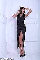 Яркое летнее приталенное платье с разрезом на ноге Fettyl