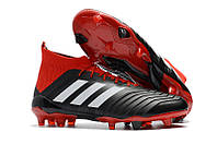 Футбольные бутсы adidas Predator 18.1 Core Black/White/Red, фото 1