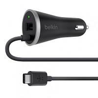 Зарядное устройство Belkin BOOST^CHARG USB 3.0, 15W c кабелем Type-C, 1.2м, Black (F7U006BT04-BLK)