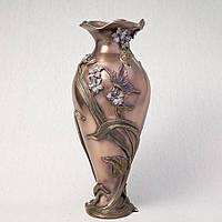 """Ваза декоративная Veronese """"Бабочка в фиалках"""" (34 см) 10407 A4"""