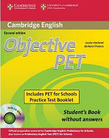 Objective PET 2nd Ed Student's Book and Practice Test Booklet with Audio CD