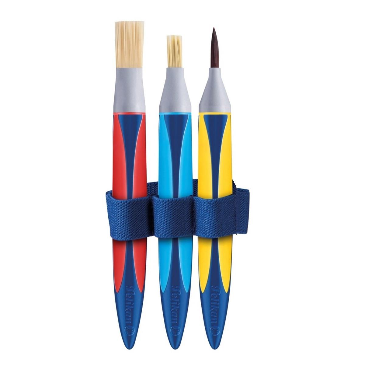 Набор кисточек для обучения рисованию Pelikan Griffix Starter базовый 3 шт