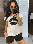 """Женский костюм """"Губы"""" : футболка и шорты (в расцветках), фото 7"""