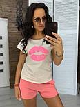 """Женский костюм """"Губы"""" : футболка и шорты (в расцветках), фото 8"""
