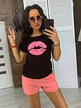 """Женский костюм """"Губы"""" : футболка и шорты (в расцветках), фото 9"""