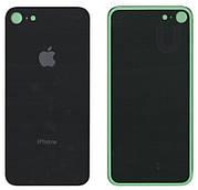 Крышка корпуса для iPhone 8 Черная (стекло) оригинал PRC