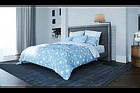 Комплект постельного белья, хлопковое постельное, ткань Ранфорс, полуторное постельное, STAR BLUE