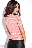 Приталенная футболка в полоску красная, фото 3