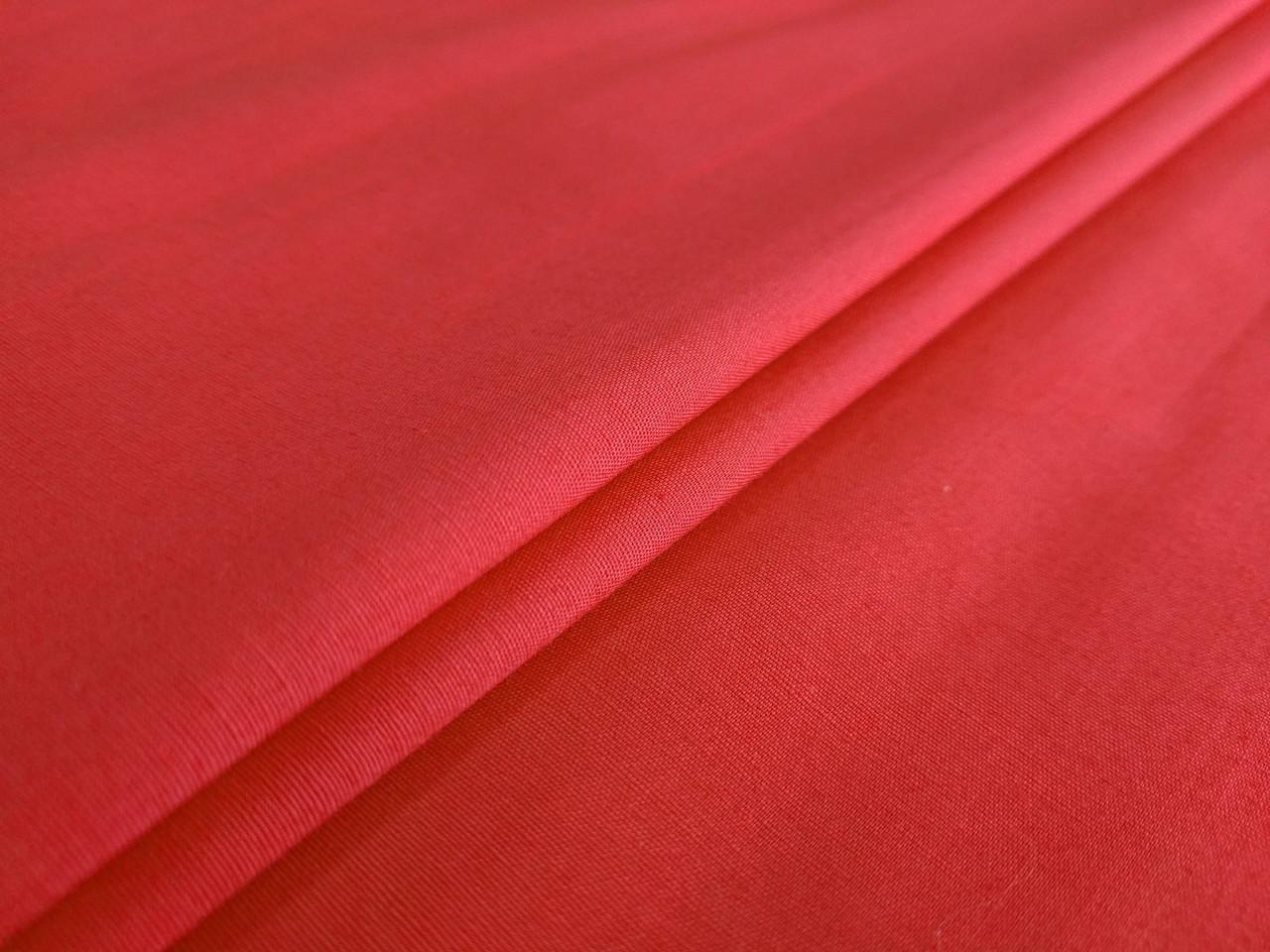 Поплин рубашечный стрейчевый, красный алый