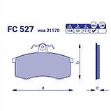 Колодка тормозная передняя ВАЗ 2108 2109 21099 2113 2114 2115 Frico, фото 2