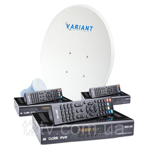 Комплект на 1 спутник для 3-х ТВ HD -3
