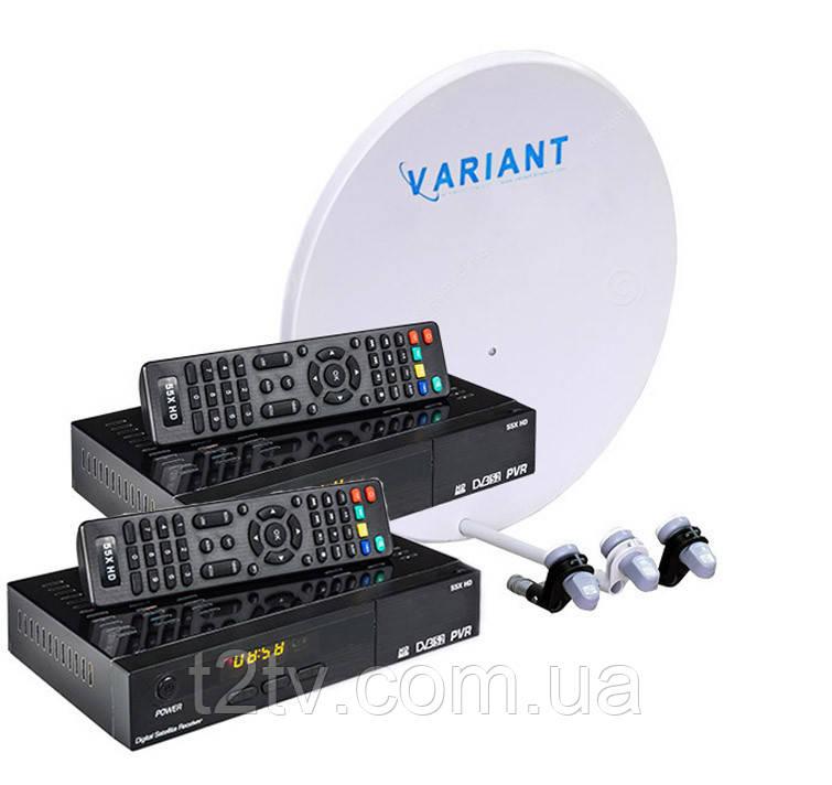 Комплект на 3 спутника для 2-х ТВ OpenBox HD-2