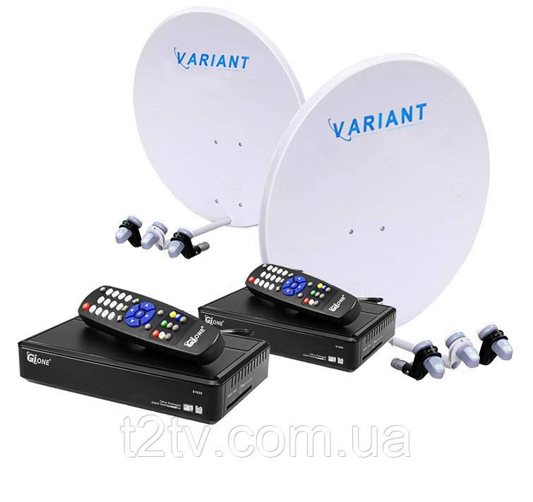 Комплект на 4 спутника для 2-х ТВ «Украина+Россия» HD2