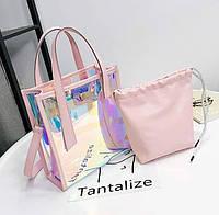 Стильная голографическая силиконовая сумка, прозрачная сумка на лето, фото 1