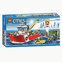 """Конструктор Bela 10830 """"Пожарный катер"""" (аналог Lego City 60109), 450 дет"""