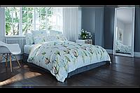 Постельное белье, 100% хлопок, ткань ранфорс, комплект постельного белья с цветами, полуторный комплект, Ирис