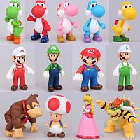Фигурки героев мультфильма Супер Марио