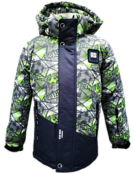 Детская зимняя куртка с меховой подстежкой для мальчика