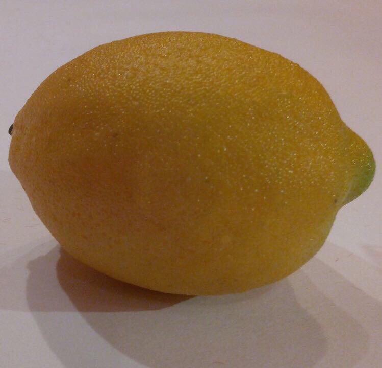 Искусственный лимон,муляж лимона.Лимон для декора.