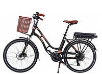Женский электро велосипед Trinx SELLA2.0 черный 24 колеса х 17 рама