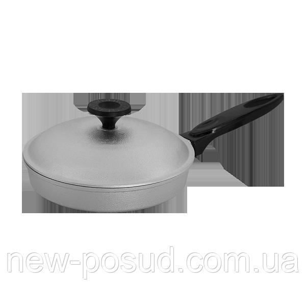Алюминиевая сковорода с крышкой 23 см Prolis СК-230