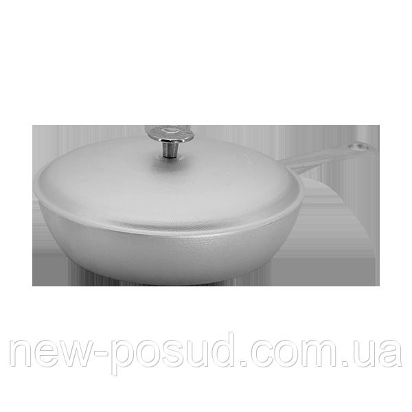 Алюминиевая сковорода c литой ручкой и крышкой 26 см Prolis СК-260УЛ