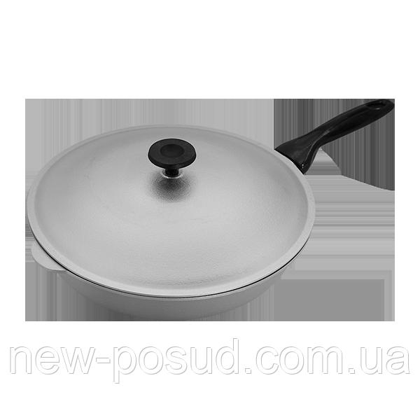 Алюминиевая сковорода с крышкой 30 см Prolis СК-300