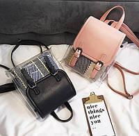 Модный прозрачный виниловый, силиконовый рюкзак с косметичкой, Хит 2019!, фото 1