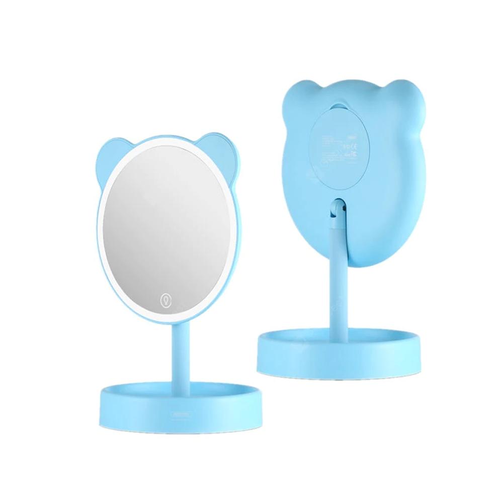 Косметическое зеркало с подсветкой Remax Mirror RH-T102 Blue
