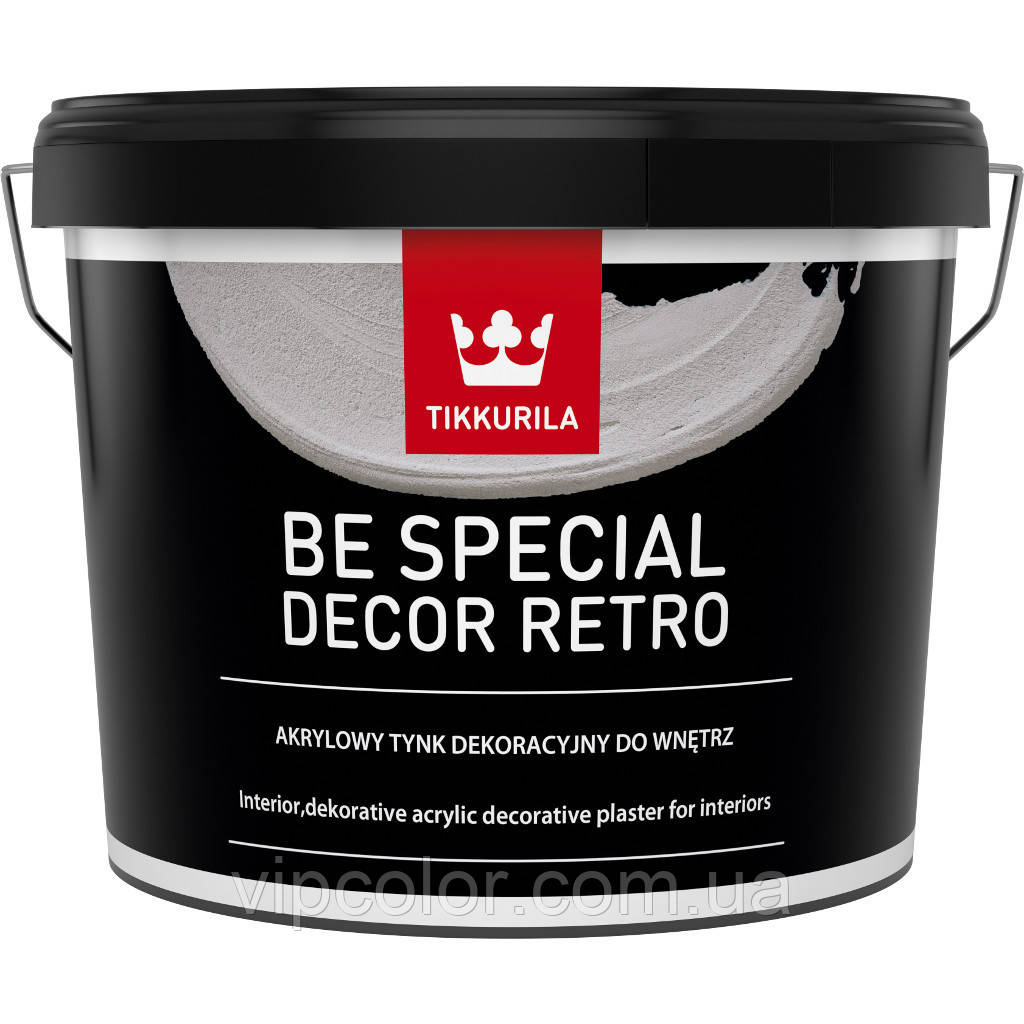Tikkurila BE SPECIAL DECOR RETRO декоративная штукатурка 14 кг