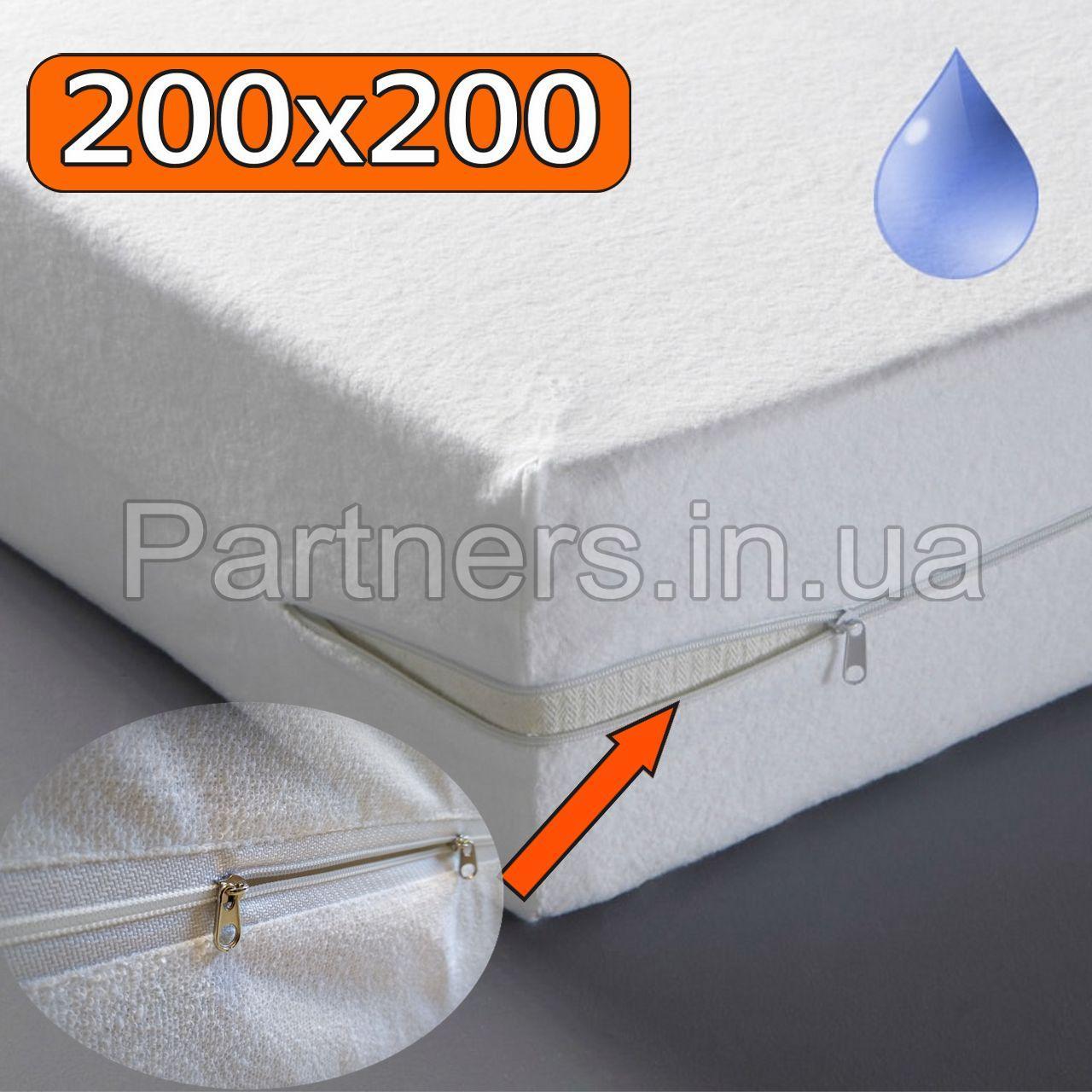 Непромокаемый Чехол 200х200 см., Aqua-Stop Coton, Высота до 20 см.