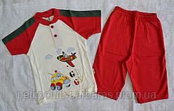Річна піжама для хлопчиків Go Go червона: футболка та шорти (OZTAS, Туреччина)