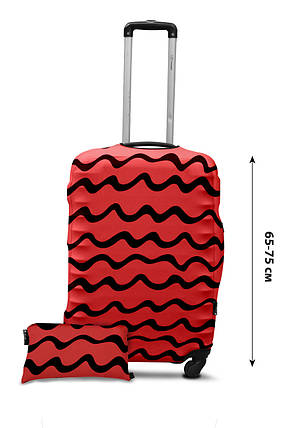 Чехол для чемодана из дайвинга NEW, размер L Волны коралл, фото 2