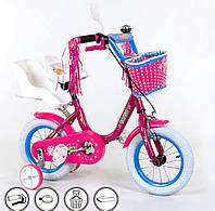 """Детский велосипед с корзинкой Corso бьюти 14"""""""