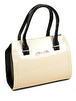 Женская бежевая лаковая сумка . КОЛ-В ОГРАНИЧЕННО!, фото 1