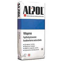 Известь гашеная экстра белая Alpol 15 кг