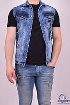Жилетка джинсовая мужская (цв.с/синий) BigCastino 2030 Размер:44